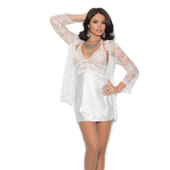 c8464135d Item  4246 Charmeuse chemise with lace bodice. Boutique. Elegant Moments